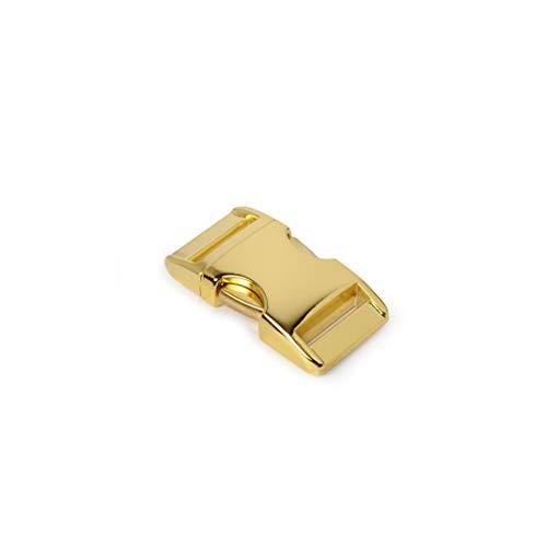Alumaxx Lot de 8 fermoirs à cliquet, Fermeture à Clip, Fermoir à Clip, pour Bracelets en paracorde, Collier pour Chien, Sac à Dos, Surface en Laiton Brillant
