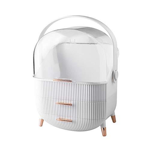 xiaowang Große Kosmetik-Aufbewahrungsbox, staubdicht, mit Schubladengriff, für Kommode, Schlafzimmer, Badezimmer, 28,6 x 18,5 x 37 cm