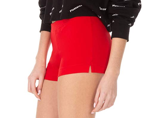 WG WEAR & GO Dames Leggings Shorts Korte Broek Katoen Zomer Sport Zwart Rood Wit Grafiet 36 38 40 42 44 46 EU