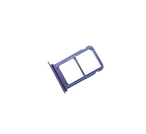 Voor (HUAWEI P20 PRO) CLT-TL01 CLT-L09 L29 CLT-L29C vervangingsonderdeel houder SLOT kaarthouder voor SIM-kaart TRAY CARRELLO SCHEDE NANO SIM1 + VANO Micro Sd of SIM2 kaart, Paars.