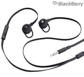 Offizielles Blakberry HDW-49299-001 Premium Stere In-Ear-Headset/Freisprechanlage für Blackberry Curve 9360, Curve 9380, Pearl 3G, Storm, Storm2, Torch 9800, Torch 9810, Torch 9860, Schwarz
