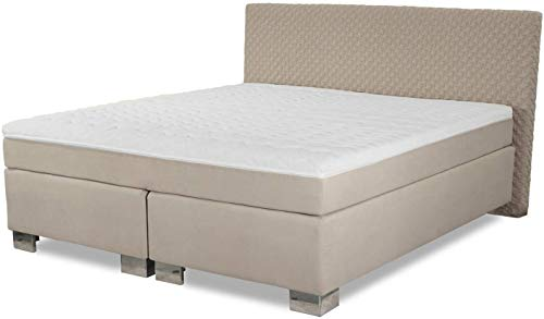 Boxspringbett ROM II 180x200 cm Beige Cream Creme Härtegrad H2 H3 Hochwertige Handarbeit 180 x 200 cm