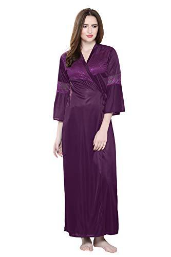 TIGYWIGY Women's Satin Nightwear Set - 2 Pcs (1014, Wine,...