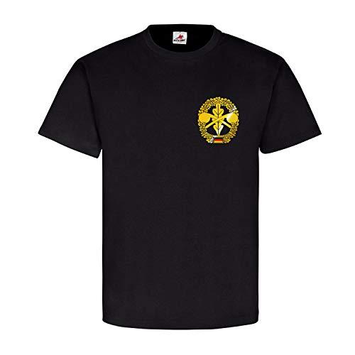ABC-Abwehr Barettabzeichen Bundeswehr ABC-Aufklärung Feldjäger ABCAbwBtl - T Shirt #2829, Größe:L, Farbe:Schwarz