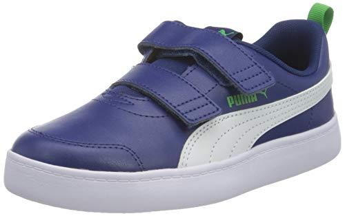 PUMA Courtflex V2 V Ps Unisex-Kinder Sneaker, Blau - Elektro Blau Puma Weiß - Größe: 34 EU