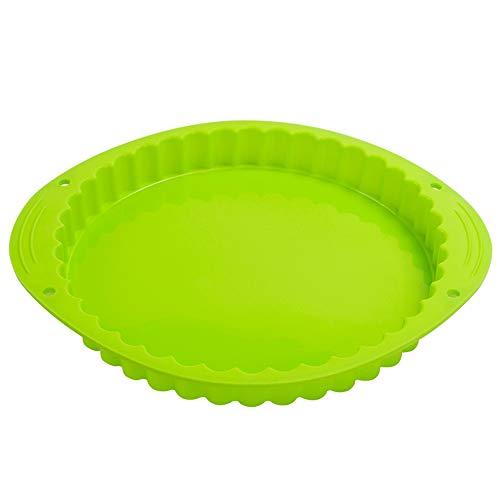 webake Obstkuchenform Ø 24 cm Tarteform Silikon Backform Quicheform Backblech Kuchenform Tortenbodenform für Torten Gebäckform Form Zum Backen