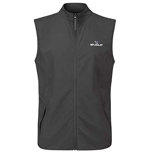 Stuburt Golf SSBTOP1137 Herren Golfweste Evolve Lite, Thermo- und Atmungsaktiv, Schwarz, 3XL