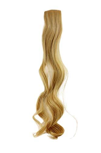 WIG ME UP - Breite Extension mit 2 Clips Strähne Haarverlängerung Haarteil Highlight wellig 63cm / 25inch Blond YZF-P2C25-86