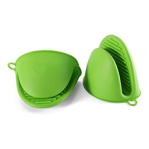 RUIXUAN Mini, résistant à la Chaleur, en Silicone, Gants de Cuisine, Gants de Cuisine pour la Cuisine et la pâtisserie (Vert)