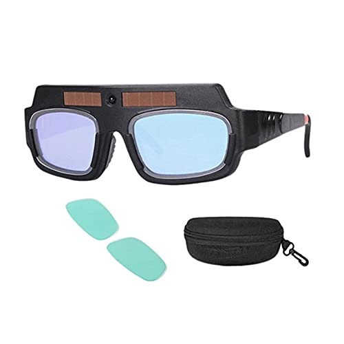 ¡Promoción! Mascarilla de soldadura automática con energía solar Darking Helmet Goggles Soldador Glasses Arco Anti-shock Lens para protección de los ojos (Color : Black)