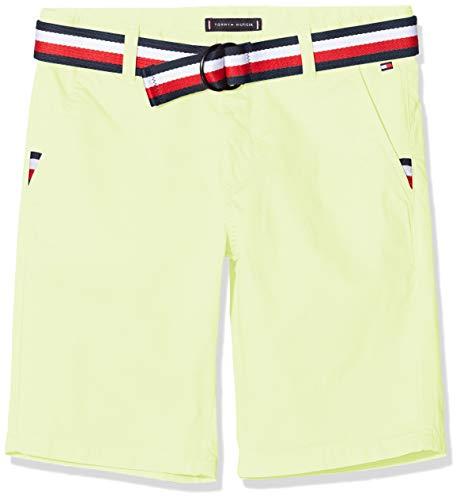 Tommy Hilfiger Jungen Essential Belted Chino Short, Gelb (Safety Yellow Zaa), 3-4 Jahre (Herstellergröße: 3)