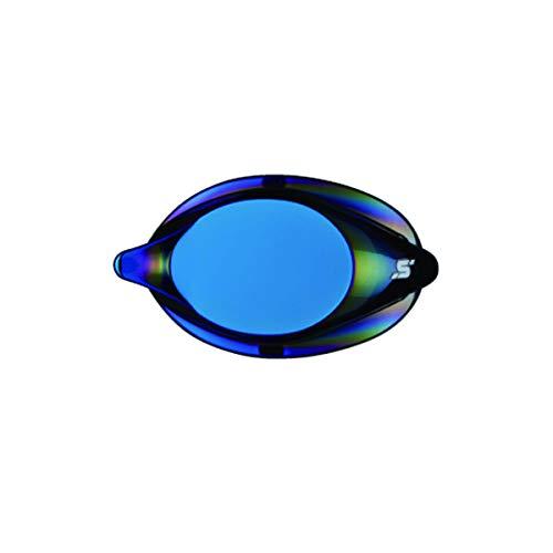 SWANS(スワンズ) ノンクッション 度付ミラーレンズ SR1バージョン (片眼1個) スモーク×フラッシュブルー S-6.00 SRCL-1M