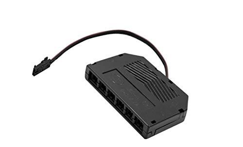 Mini AMP - Distribuidor de 6 enchufes (12 V, con mini conector para lámparas LED, luces para muebles)