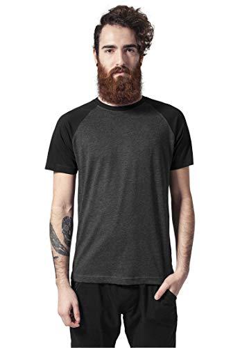 Urban Classics Herren Raglan Contrast Tee T-Shirt, cha/blk, XL