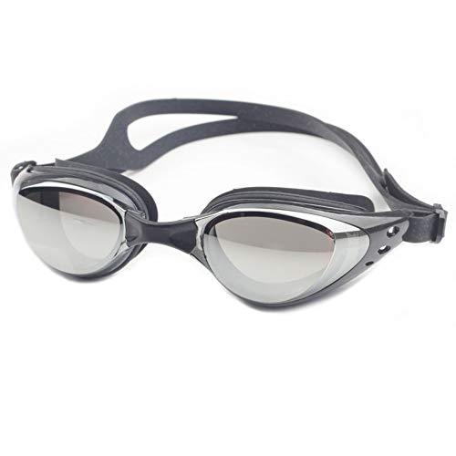 Zwembril, geen lekkende anti-mis, uv-bescherming, voor mannen, vrouwen, volwassenen, jeugd, kinderen (meer dan 6 jaar), met gratis beschermhoes. zwart