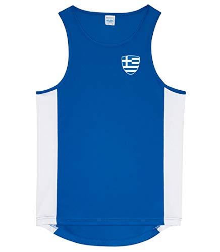 Nation Griechenland Tank Top Trikot Ärmellos Sport Fitness ATH BR-B (S)