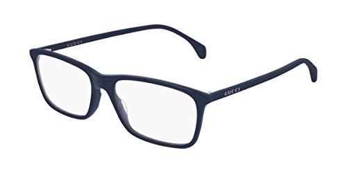 Gucci GG 0553O 007 - Gafas rectangulares (plástico, 56 mm), color azul
