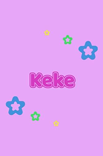 Keke: Personalisiertes Vornamen Tagebuch für Frauen und Mädchen - Notizbuch, Notizheft oder Schreibheft für Schule, Uni, Beruf, Job oder Einschulung ... Seiten - Punkteraster - Format 6x9 ca. DIN A5