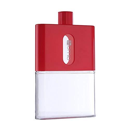 FMM Botella de Agua al Aire Libre portátil Creativo Papel Verde Cuadrado Fondo Plano hervidor de Viaje Deportivo Adecuado para Estudiantes Rojo 530 ml