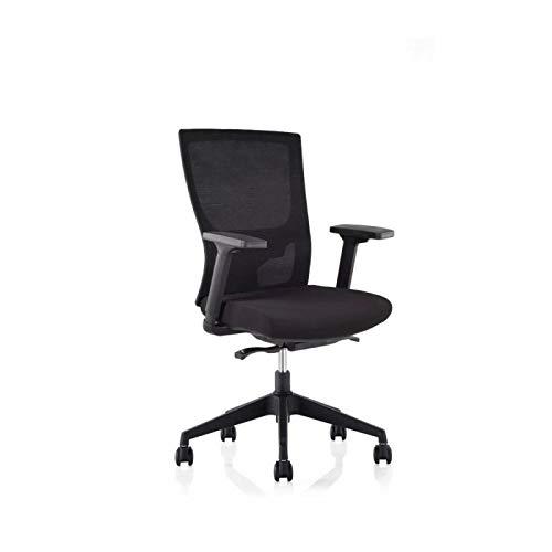 Vienna | Elegante silla funcional incluye reposabrazos opcionales para una mayor movilidad | Color del asiento - Negro | Color base - Negro | Negro | Color | Negro | With Armrests