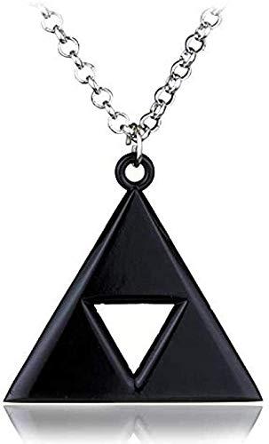 BACKZY MXJP Halskette Herren Halskette Anime Spiel Die Legende Von Zelda Metall Anhänger Halskette Dreieck Mark Kristall Halskette Vintage Kette Halskette Statement Bijoux