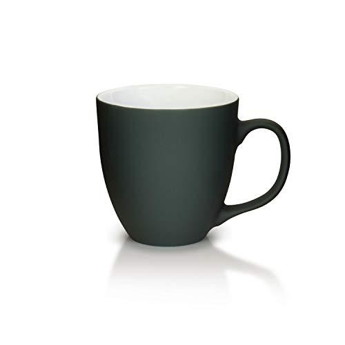 Mahlwerck Jumbotasse, Große Porzellan-Kaffeetasse mit Soft-Touch Oberfläche, in Soft-Grau, 400ml
