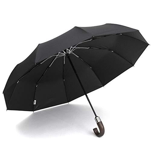 Paraguas automático de Bolsillo pequeño Rain Lady Paraguas Ultraligero de Viaje para Hombres Paraguas de Regalo portátil con Revestimiento Negro para Exteriores - Rojo, 88