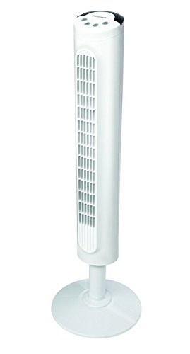 Honeywell White Comfort Control Tower Fan, Slim Design, Powerful Cooling, 1 Pack