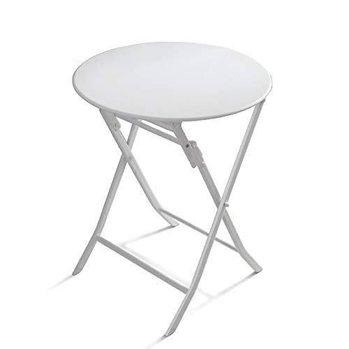 Picnic Table Multifunctional Folding Table Leisure Simple Garden Coffee Table Side Table Easy Assembly (Color : White, Size : 60x60x72cm)