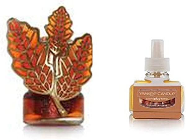 Yankee Candle Autumnal Branch Night Light Scent Plug Diffuser Base With A Golden Chestnut Home Fragrance Electric Refill