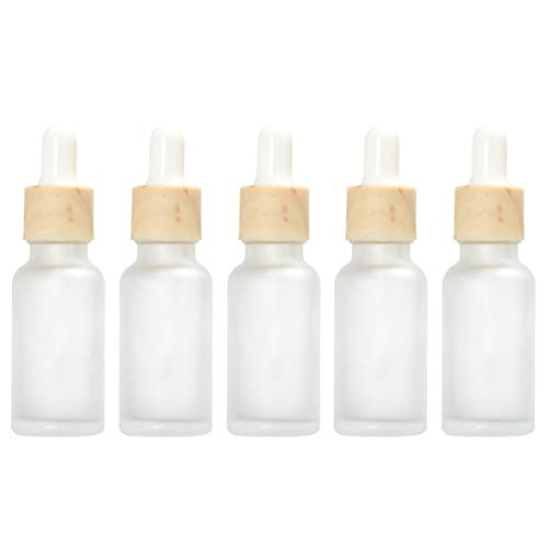 Beaupretty 5 Pcs 20 Ml Verre Huile Essentielle Compte-Gouttes Bouteilles Rechargeables Parfums Compte-Gouttes Vide Bouteille Liquide D'aromathérapie pour Voyage (Transparent)