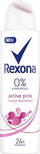 Rexona Deospray Active Pink ohne Aluminium 150 ml, 6er Pack (6 x 150 ml)