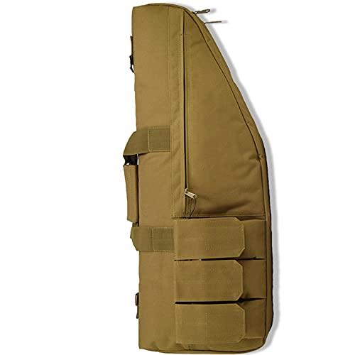 Qussian Bolsa para Rifle Impermeable Y Duradera De 70 cm, Bolsa De Protección De Pistola De Aire para Juegos Militares De Caza Al Aire Libre, Correa De Hombro Desmontable, con Asa,Mud,70 * 28cm