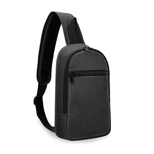 Small Backpack for Men Women Sling Bag Crossbody Chest Bag Shoulder Backpack for Hiking, Sports and Daily Use (Black)