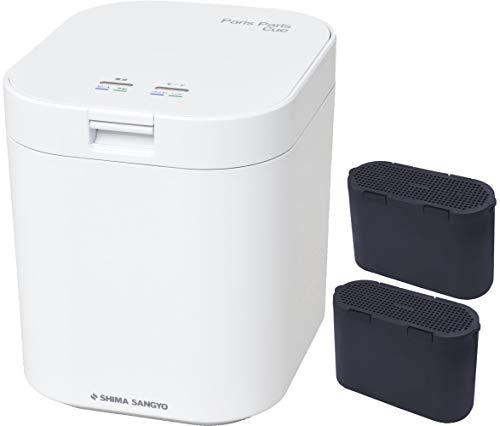 島産業 生ごみ減量乾燥機 パリパリキュー ホワイト&脱臭フィルター 2点セット(PPC-11-WH&PPC-11-AC33)