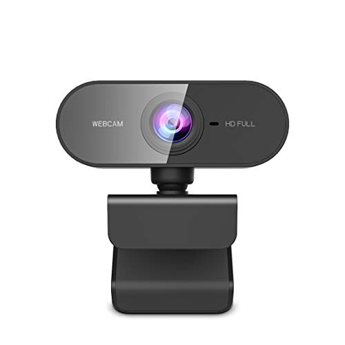 NIYPS Webcam met Microfoon, HD 1080P Streaming Webcam voor PC,MAC, Laptop,Plug and Play USB-camera voor Skype Video Calling, Youtube, Studeren, Conferentie, Gaming met roterende clip