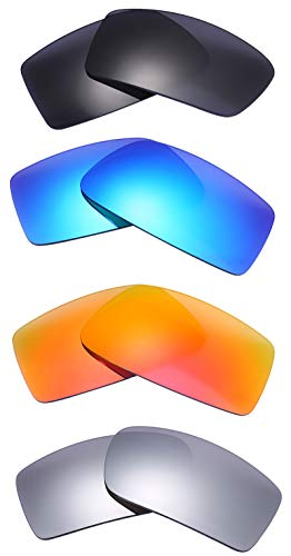 NicelyFit 4 Pairs Polarized Replacement Lenses for Oakley Gascan Glass Sunglasses Frames