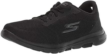 Skechers Women's GO Walk 5-Lucky Sneaker, Black, 9 M US