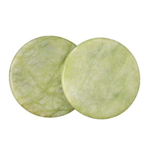 Minkissy 10pcs extension de cils jade pierre colle palette faux oil lash base maquillage outil cosmétique