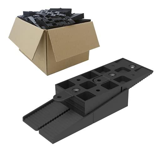 Amazon Brand - Umi - Bases regulables Raptor para estructuras de madera, WPC y aluminio - S (15-35 mm), pack de 25