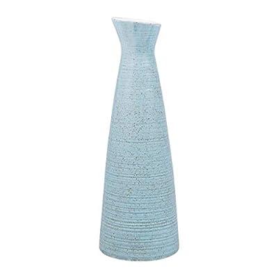 AUUM Flower Vases for Decor, 9 Inch Tall Ceramic Vase Modern Home Decor Vase for Centerpieces, Kitchen, Office, Wedding, or Living Room-Blue
