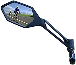 New Scratch Resistant Glass Lens,Handlebar Bike Mirror, Adjustable Safe Rearview Mirror, Bicycle Mirror (Sliver Left Side) ME-005LS