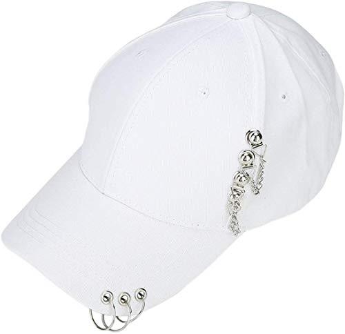 ZZbaixinglongan Neueste Kpop BTS Baseball Kappe Love Yourself Snapback Freizeit Verstellbar Dad Hut Hiphop Hut - Weiß, One Size