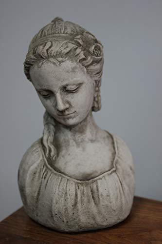 Unbekannt Busto de Mujer Desconocido/Figura de Mujer Leonora, Absolutamente Resistente a Las heladas. Piedra fundida. Altura 26 cm, 3,3 kg.