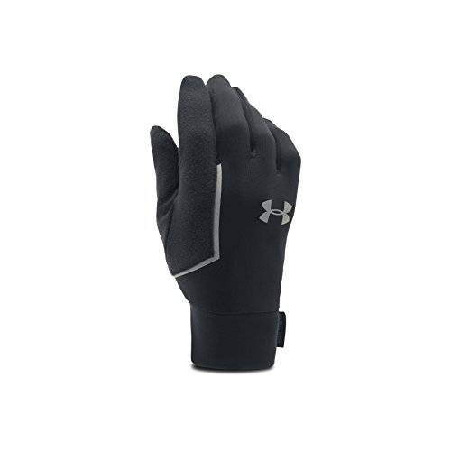 Under Armour Ua No Breaks Armour Liner-Blk/Blk/Slv Gants de Course à Pied Homme, Noir, FR : S (Taille Fabricant : SM)