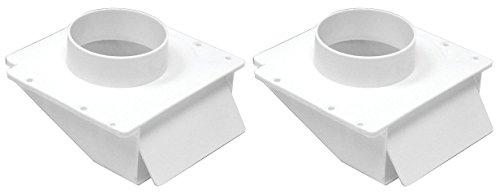 2-PACK - Lambro 143W White Plastic Under Eave Vent, 4-Inch