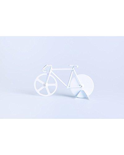 DOIY Design dyfixiewh Pizzaschneider Fixie Pure Stahllegierung weiß 22,5x 4x 13cm