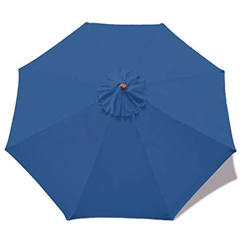 Mastercanopy (30+ Couleurs) 2,7m Marché rond Parapluie Réglage de remplacement Canopy 8Côtes (Canopy uniquement) Dodgerblue