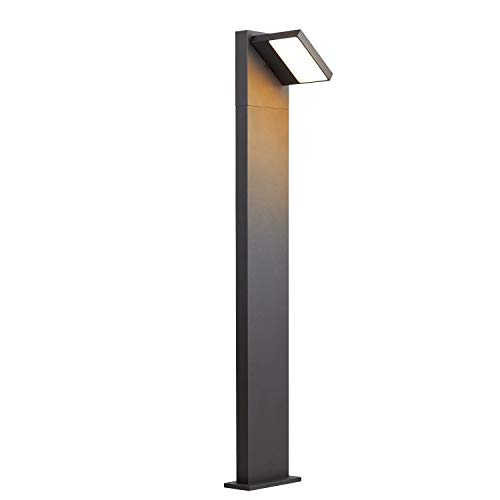 SLV LED Außenleuchte ABRIDOR 100 | Design Außen-Standleuchte, Outdoor LED Wege-Leuchte, Pollerleuchte, Stehleuchte LED, Garten-Lampe, Gartenbeleuchtung | CCT Switch (3000K/4000K), 750 lm, 14W