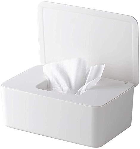 TTSDRD Caja de Papel higiénico para toallitas húmedas, Caja de toallitas húmedas, Caja de Almacenamiento con Tapa, Caja de toallitas húmedas para bebé para el hogar y la Oficina